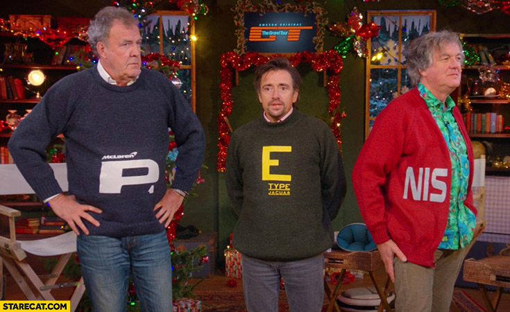 Penis Grand Tour Top Gear sweaters letters fail