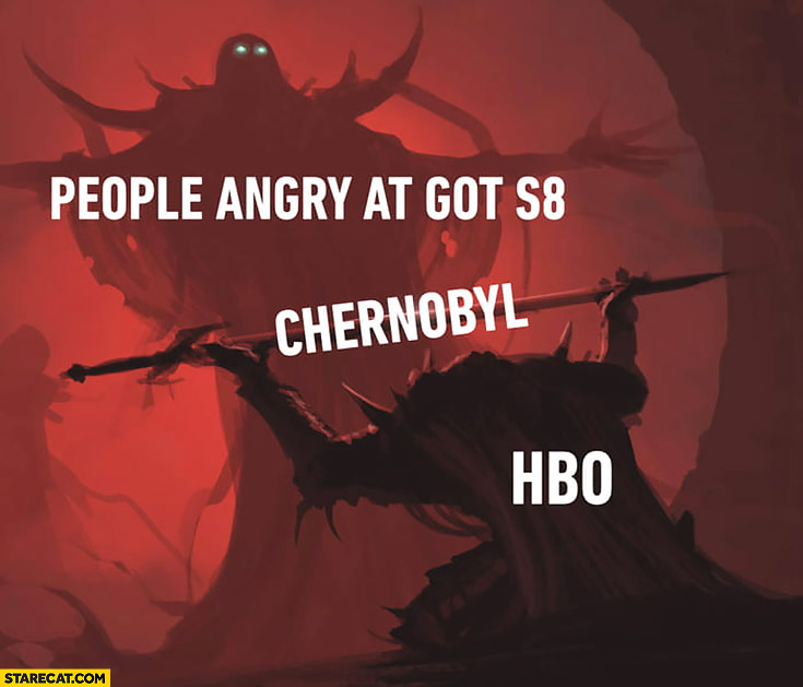 People angry at Game of Thrones Season 8 HBO gives them Chernobyl tv series