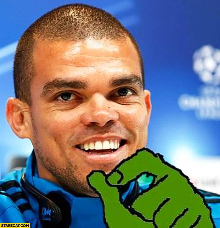 Pepe footballer frog meme