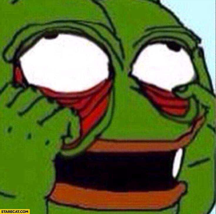 Pepe the frog pulling his eyes meme