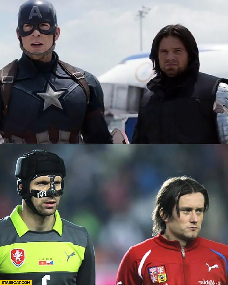 Petr Cech Captain America best cosplay ever