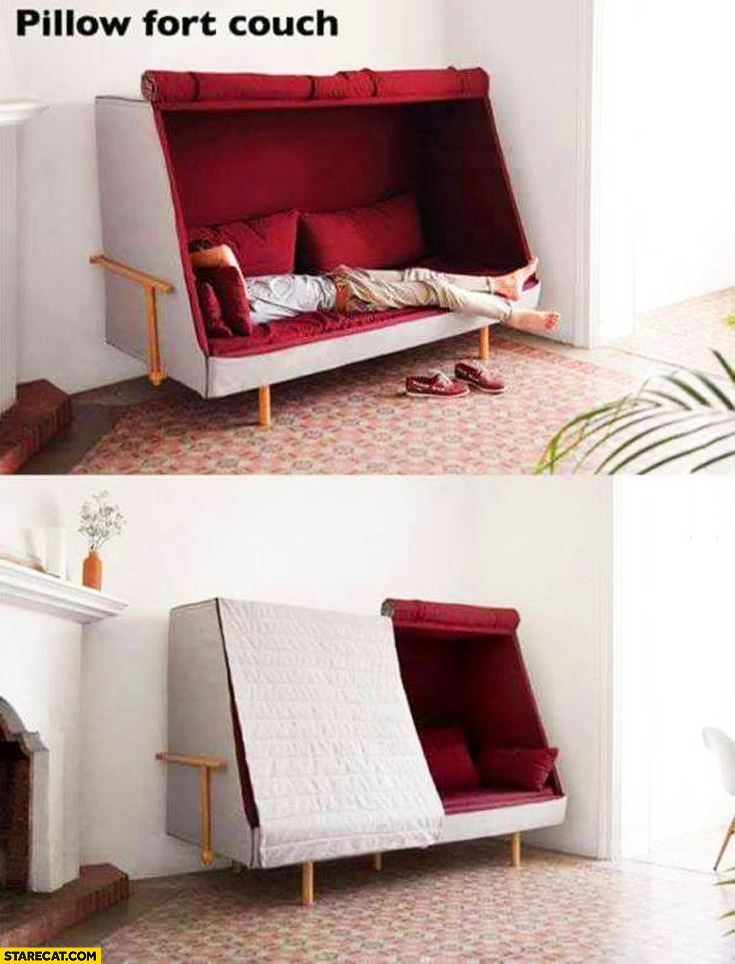 Pillow fort couch – creative bed interior inspiration