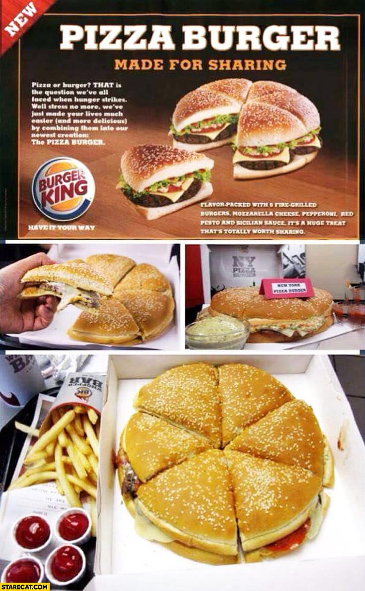 Pizza burger made for sharing Burger King