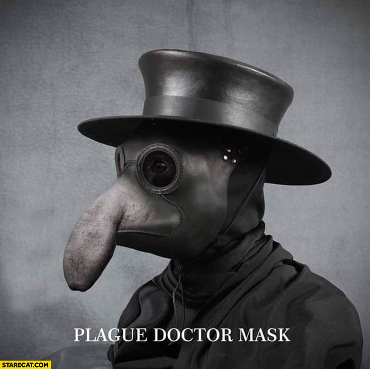 Plague doctor mask coronavirus monkey silly nose