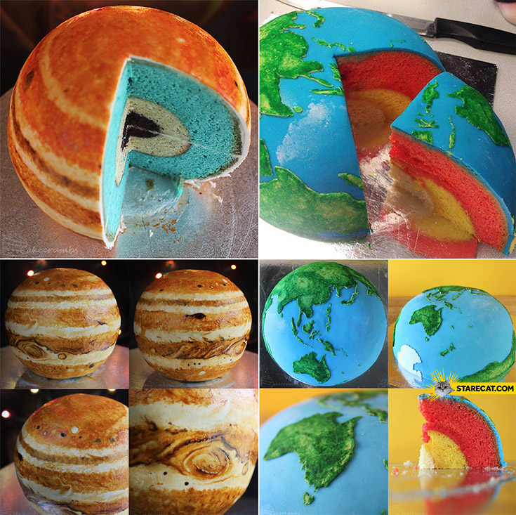 Planet cakes