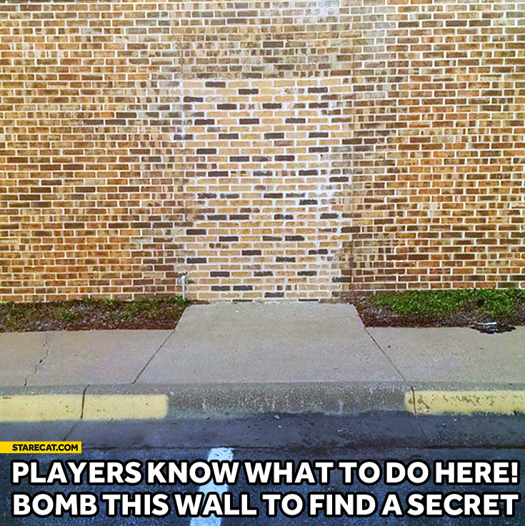 Players know what to do here – bomb this wall to find a secret bricks different color