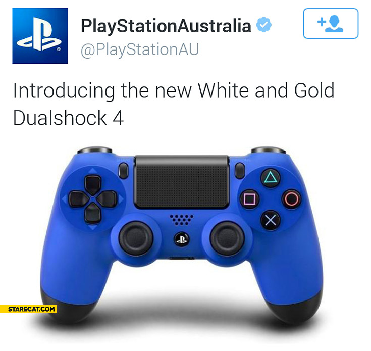 PlayStation Australia introducing the new white and gold DualShock 4 twitter