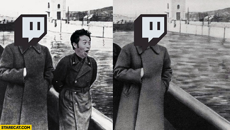 Pogchamp Gootecks removed from twitch stalin meme photoshopped
