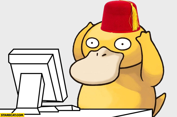 Pokemon Psyduck Turkish coup hat cap
