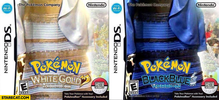 Pokemon white gold version black blue version dress