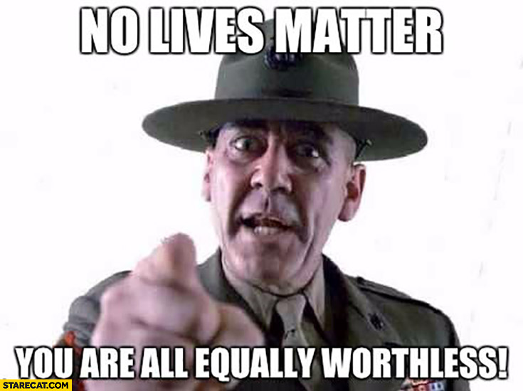 Police officer no lives matter you are equally worthless BLM