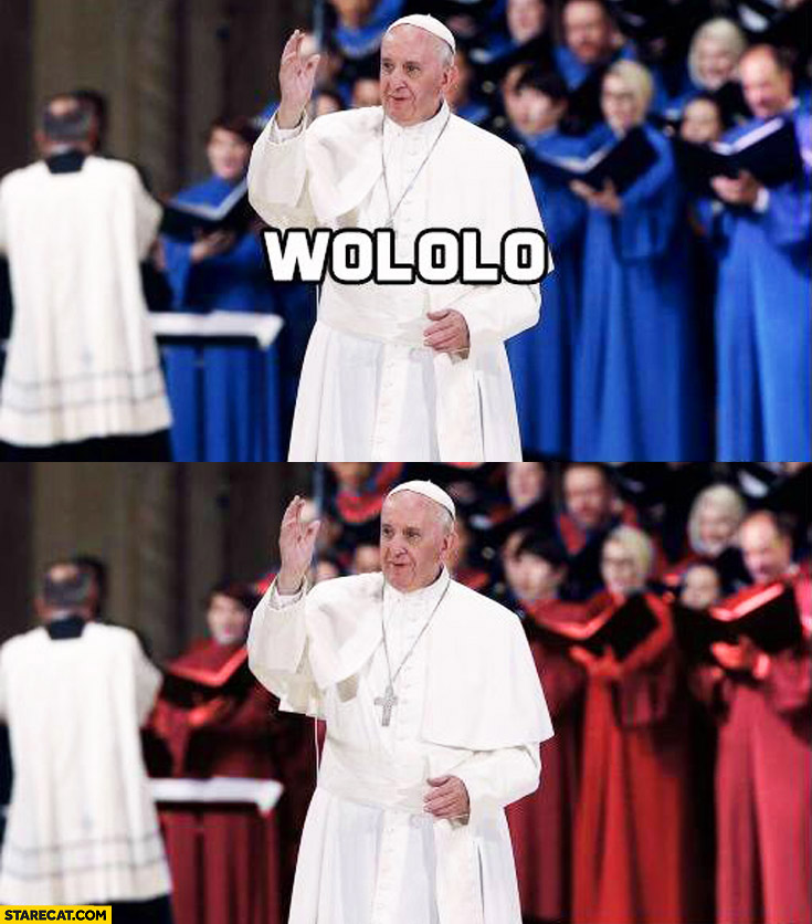 Pope Francis wololo change color of clothes