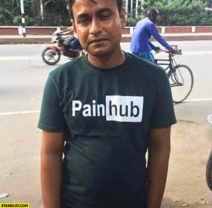 PornHub logo changed to PainHub sad man