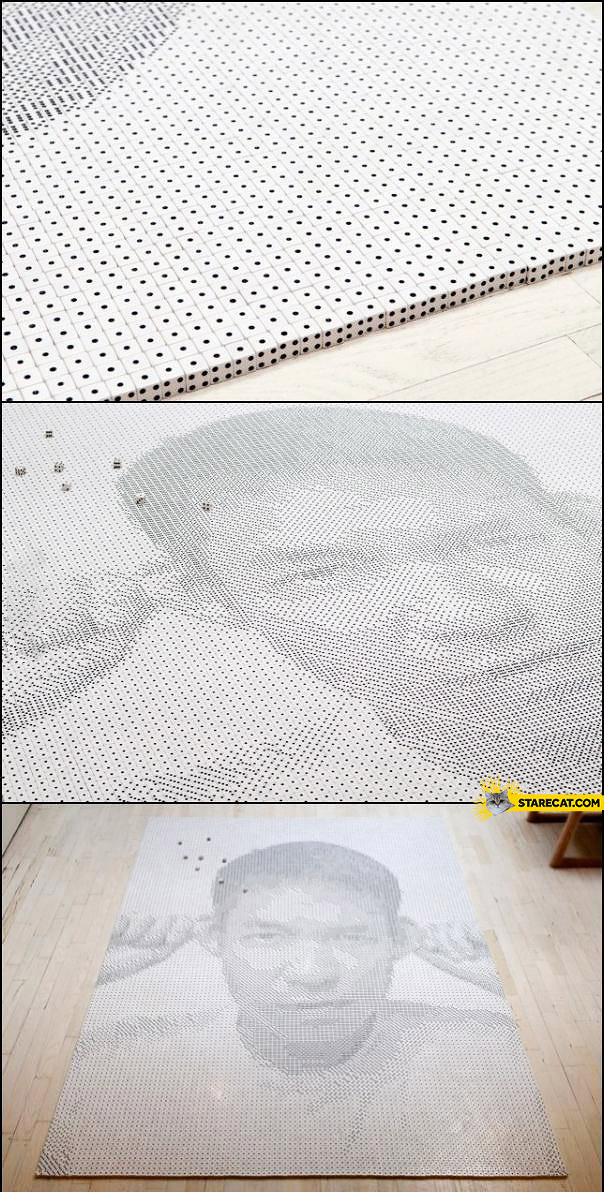 Portrait made of dices