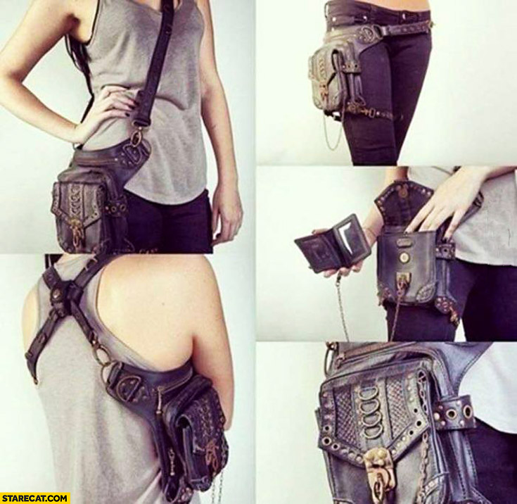 Post apocalyptic purse for a gamer girl