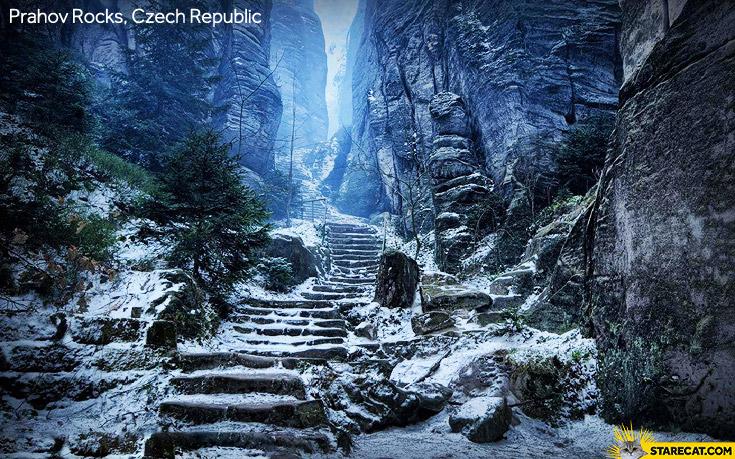 Prachov Rocks Czech
