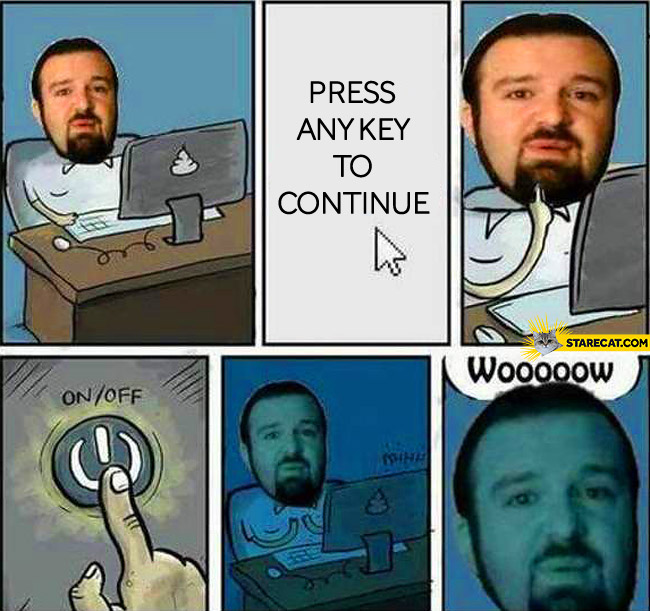 Press any key to continue fail