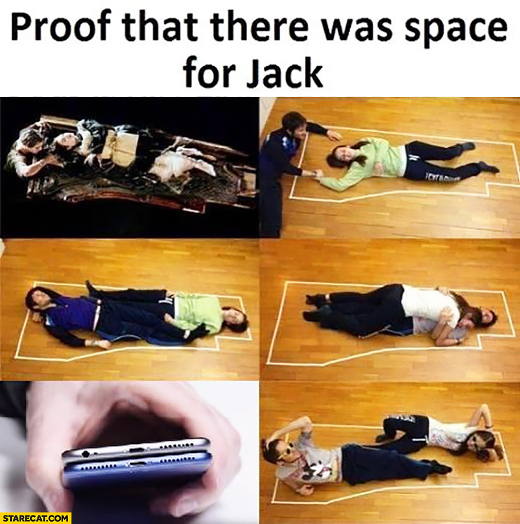 Proof that there was space for jack iPhone Titanic