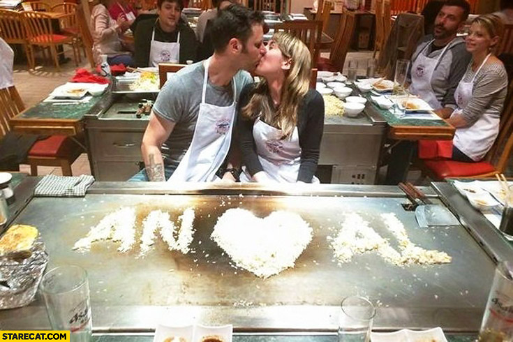 Proposal while cooking with girlfriend initials fail AN AL
