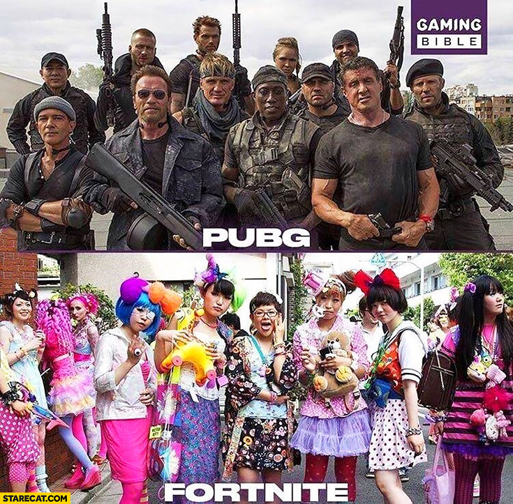 PUBG players vs Fortnite players comparison Playerunknown's Battlegrounds