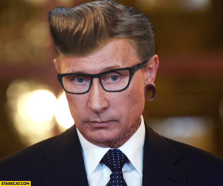 Putin as a hipster version