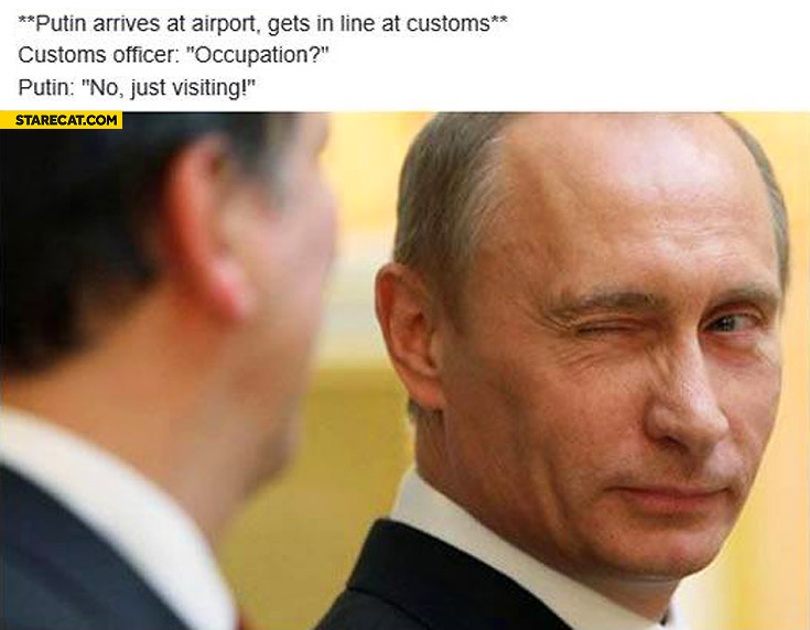 Putin at airport occupation? No just visiting