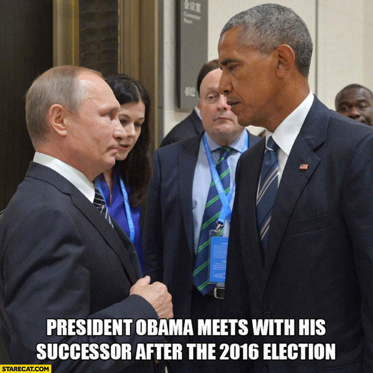 Putin president Obama meets with his successor after the 2016 election