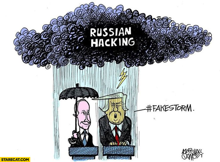 Putin Trump Russian hacking Trump says fakestorm