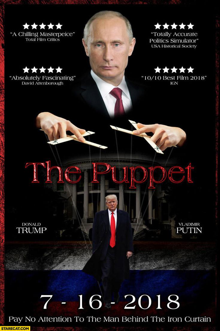 Putin Trump the puppet movie poster