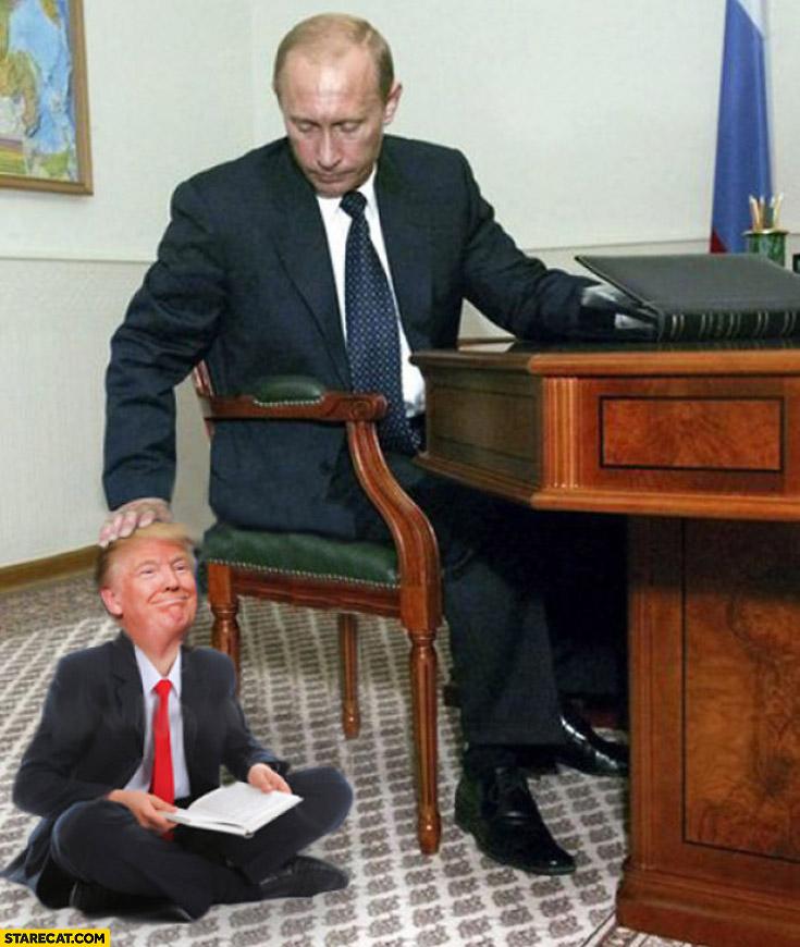 Putin with pet Trump photoshopped