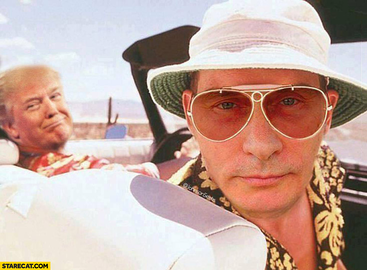 Putin with Trump Las Vegas Parano photoshopped