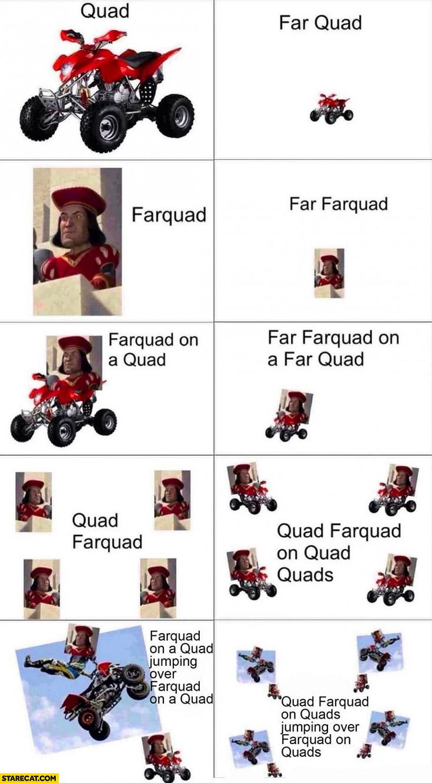 Quad, far quad, Farquad word play | StareCat.com