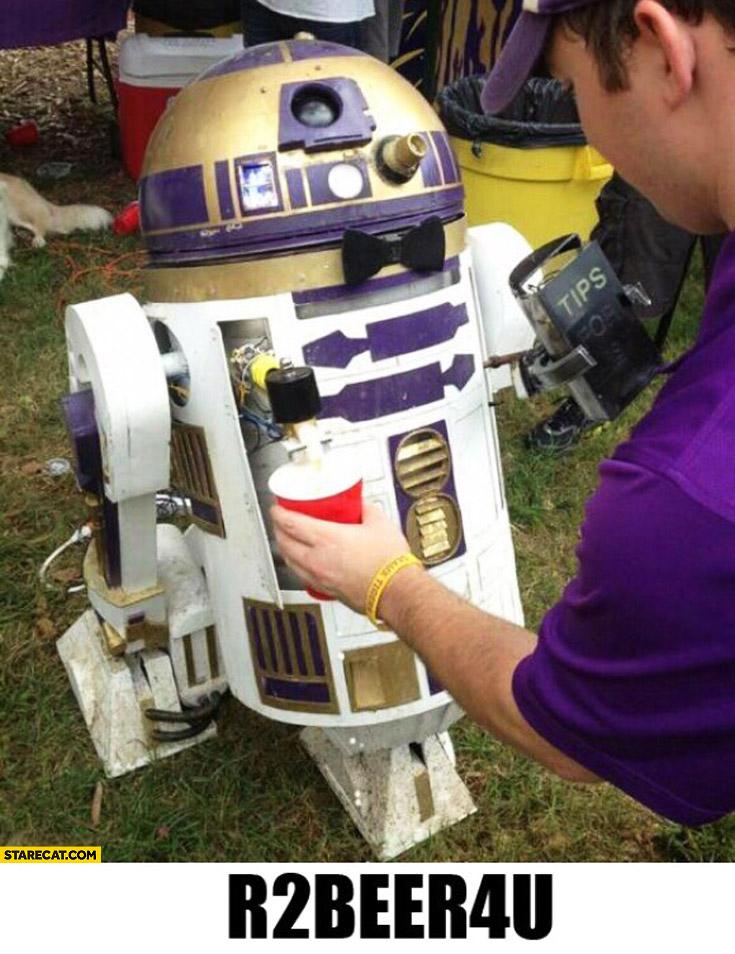 R2 beer 4U R2D2