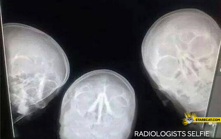 Radiologists selfie