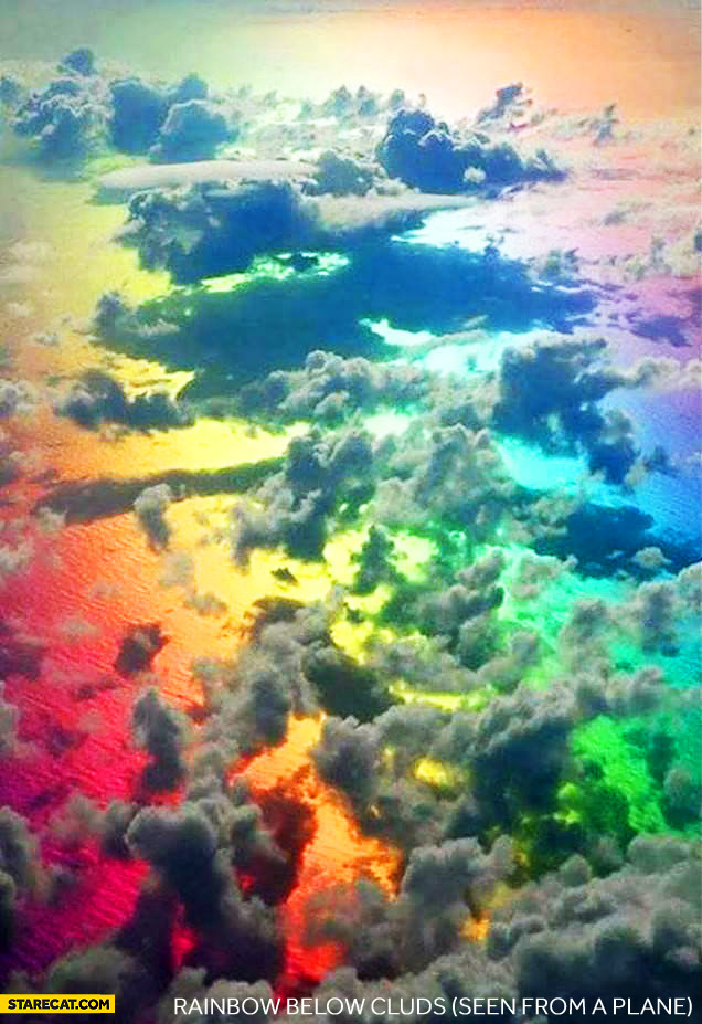 Rainbow below clouds