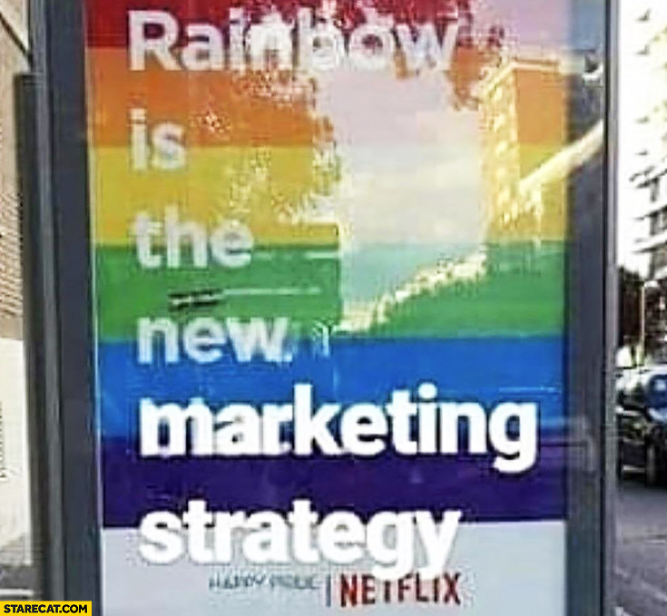 Rainbow is the new marketing strategy Netflix poster