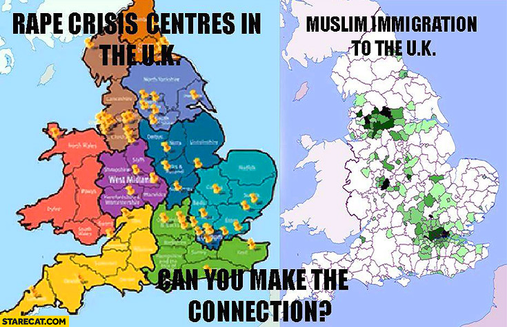 Rape crisis centres in the UK Muslim immigration in the UK can you make the connection?