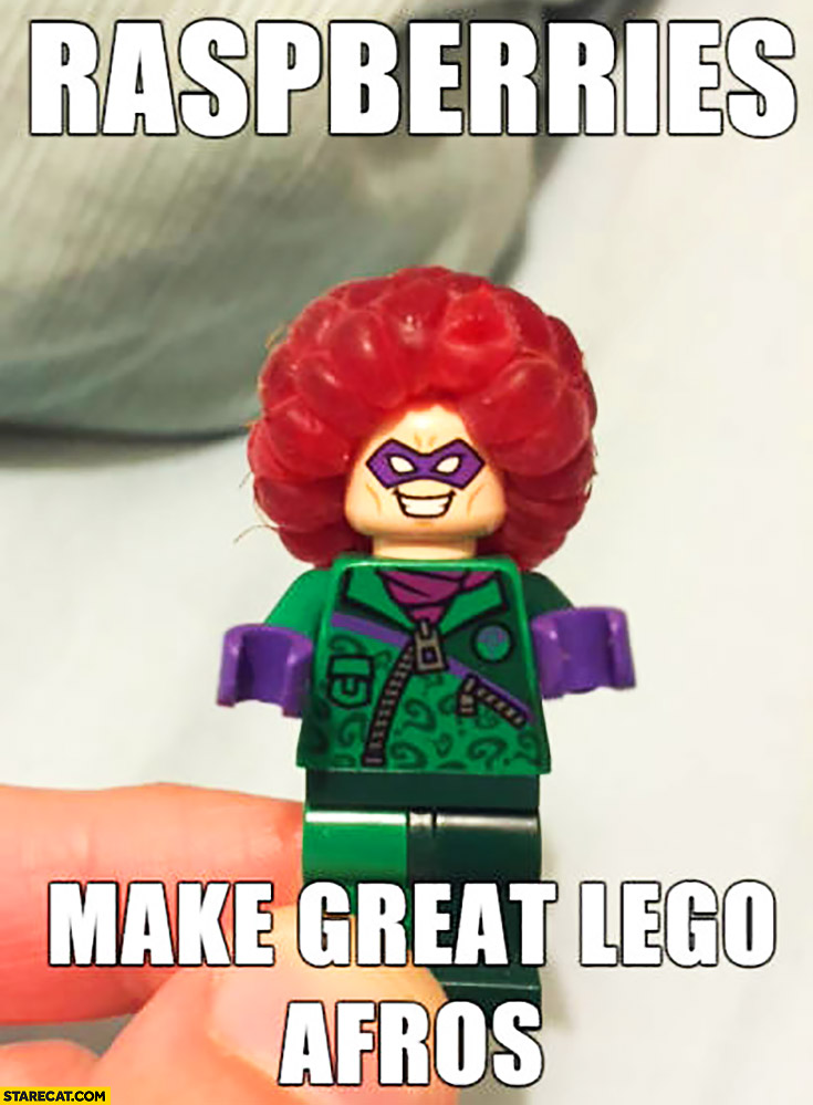 Raspberries make great LEGO afros