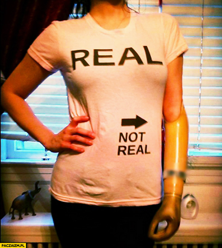 Real not real T-shirt arm prosthesis