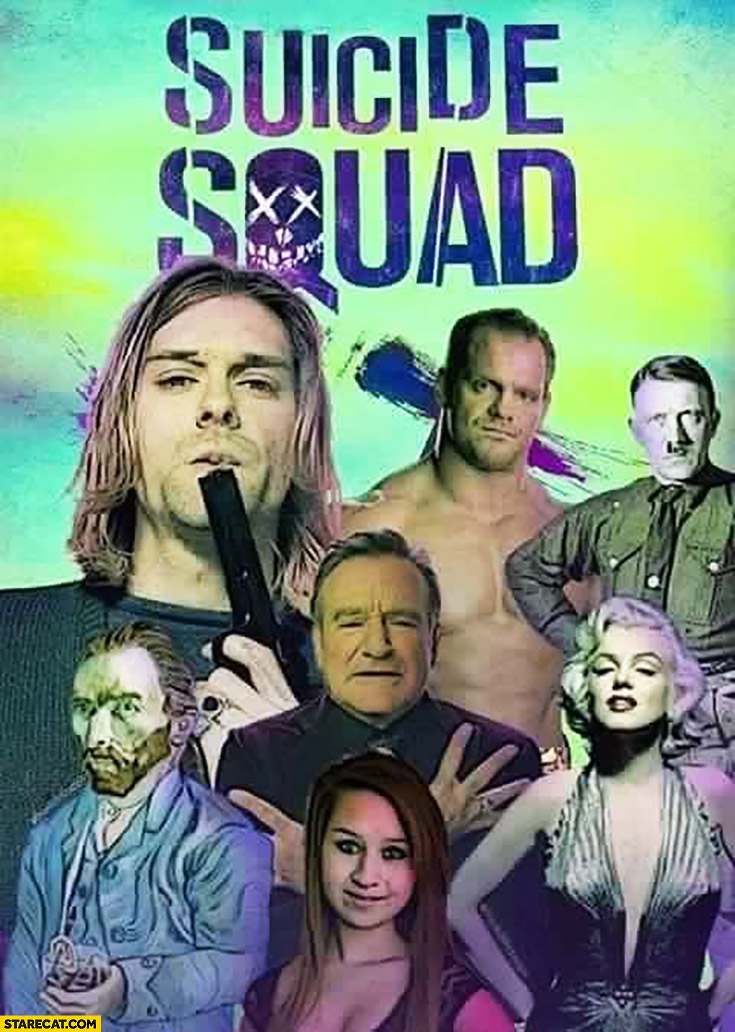 Real Suicide Squad: Cobain, Hitler, Monroe, Williams, Van Gogh