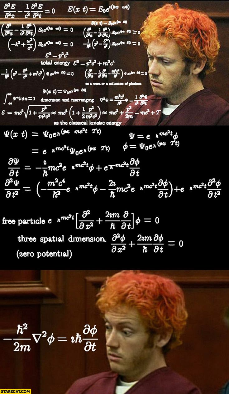Red hair guy in court math equation eureka moment