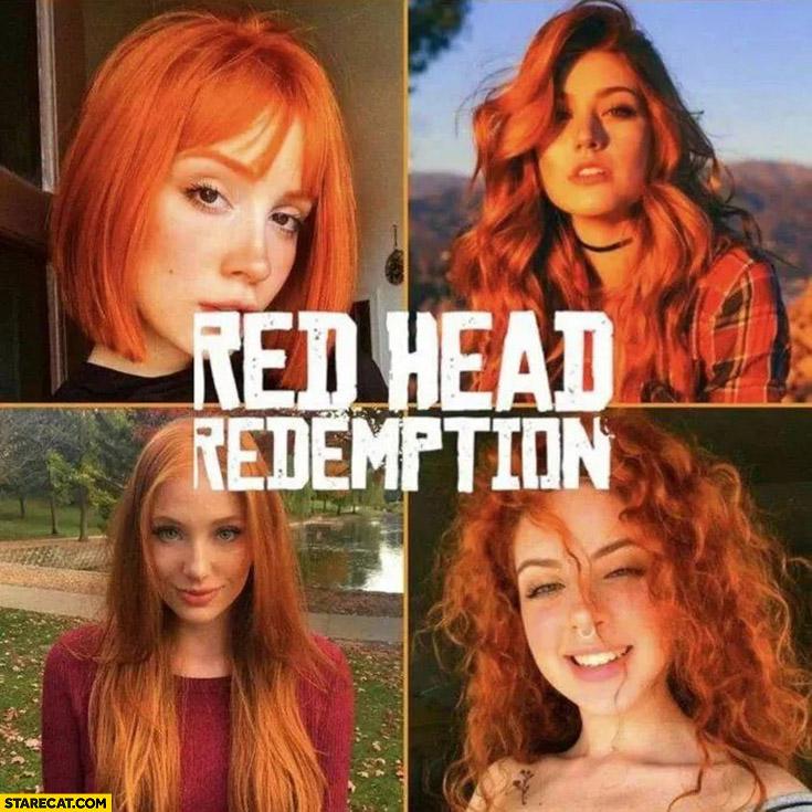 Red head redemption girls women
