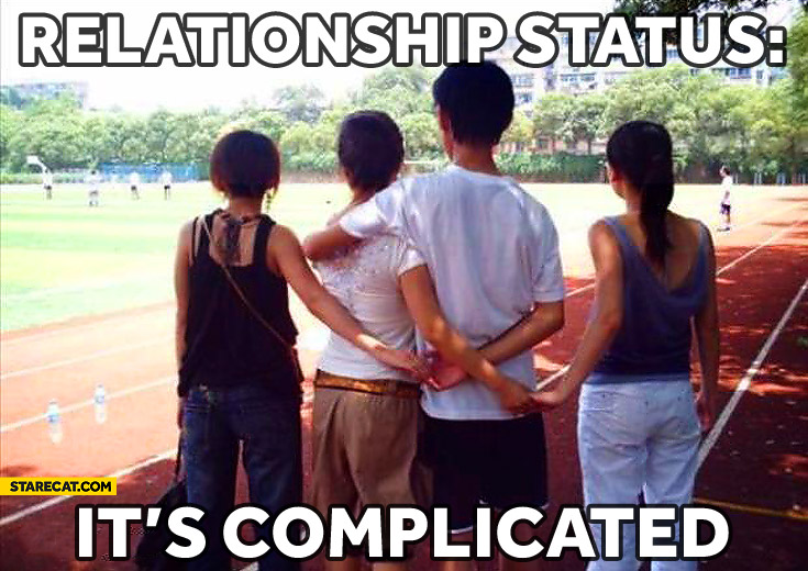 Relationship status it's complicated