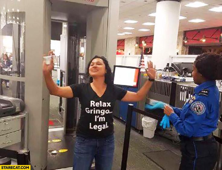 Relax gring I'm legal creative tshirt