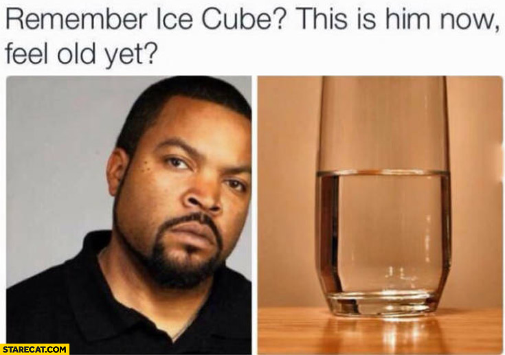 Remember Ice Cube? This is him now, feel old yet? melted