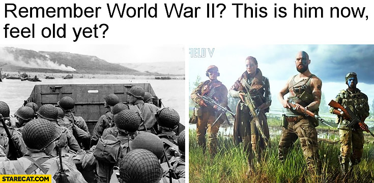 Remember World War II this is him now feel old yet game