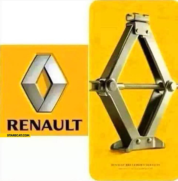 Renault logo explained car jack