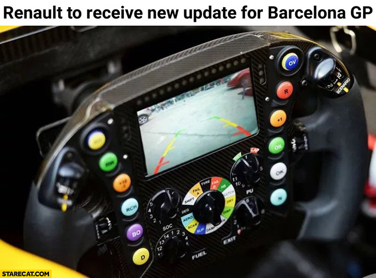 Renault to receive new update for Barcelona GP parking reverse camera