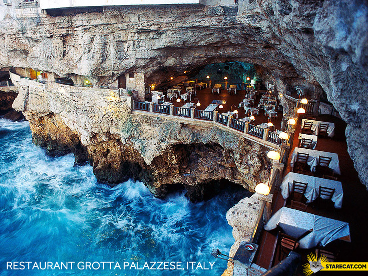 Restaurant Grotta Palazzese, Italy