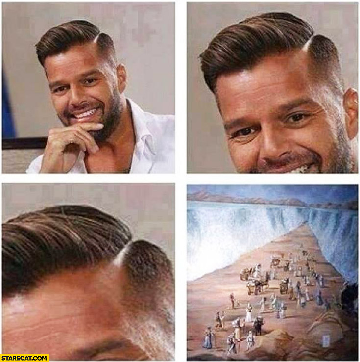 Ricky Martin hair Moses crossing red sea